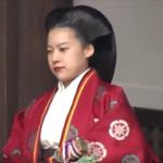 絢子さま「朝見の儀」 3日後に結婚式を控え 両陛下にお別れ