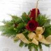 クリスマスアレンジ「キャンドル」作り方 少ない花材で経済的に簡単に 花材店もご紹介