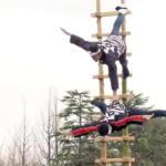 仙台市消防出初式2019 伝統の「階子乗り」