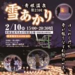 宮城県 青根温泉「雪あかり」2019 2月10日開催 雪とろうそくの灯の世界